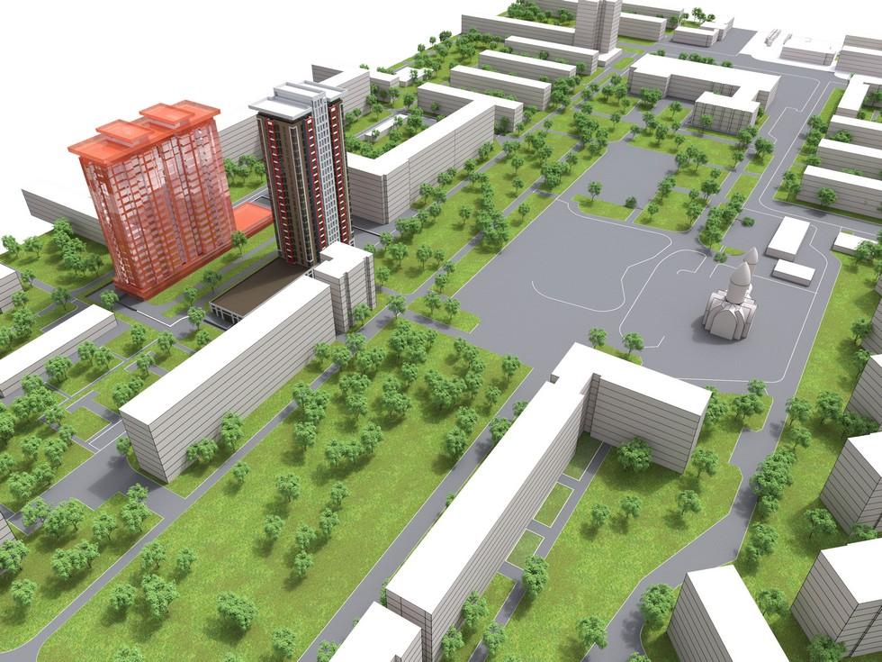 Детские площадки и озеленение: на левом берегу Днепра в спальном районе построят небоскреб (Фото)